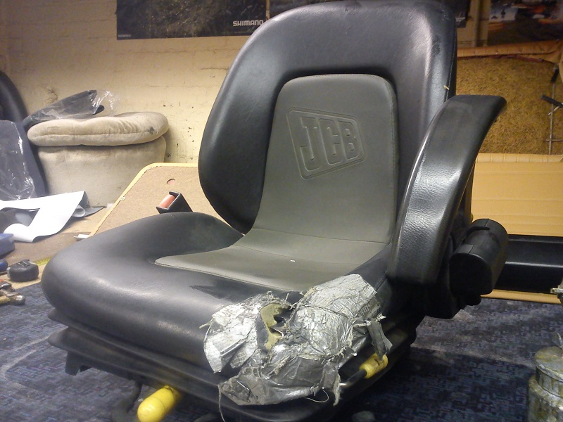 Jcb Seat Repaired D Haden Upholstery