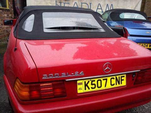 Mercedes 300 SL Rear Window