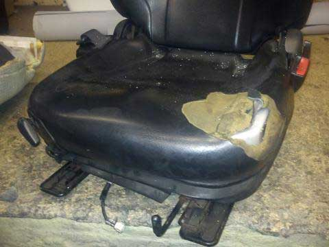 Toyota Forklift Seat Bottom Recovered